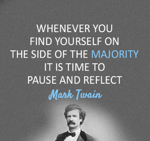 Mark Twain Quotes Majority
