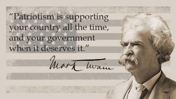 Mark Twain Quotes Patriotism