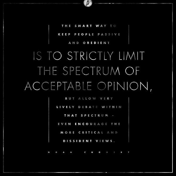 Noam Chomsky Quotes Acceptable Opinions