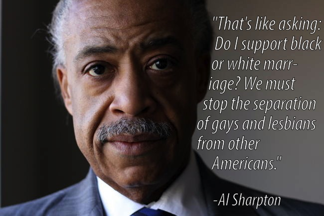 Gay Marriage Al Sharpton