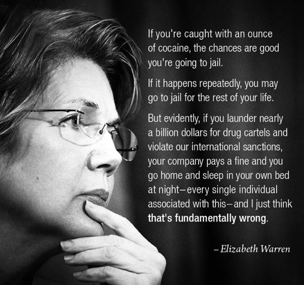 Elizabeth Warren On Laundering