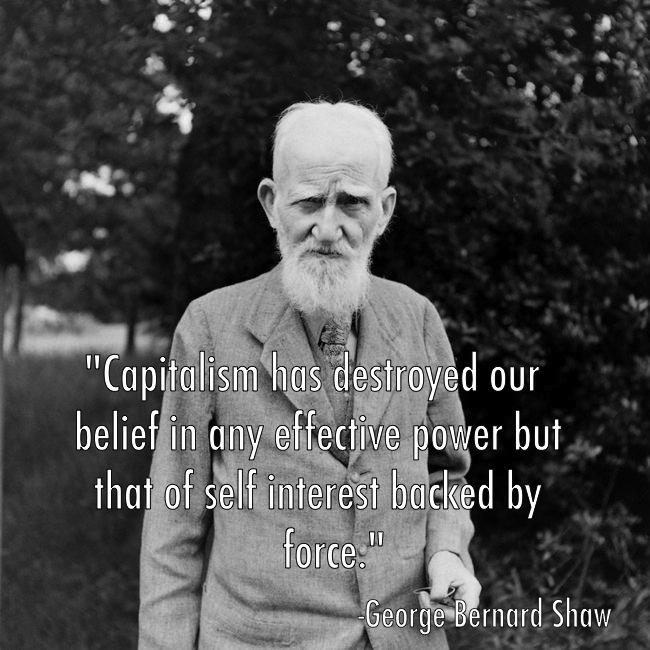 Great Critiques Of Capitalism George Barnard Shaw