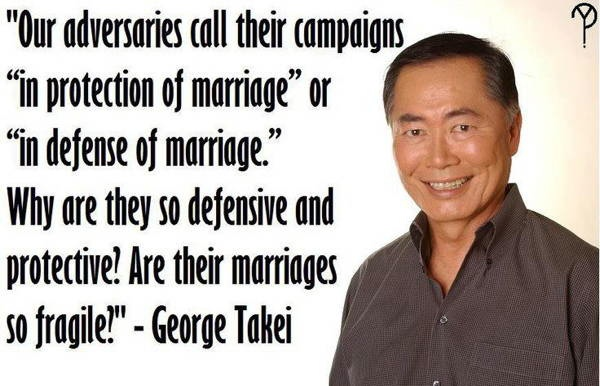 George Takei On Gay Marriage