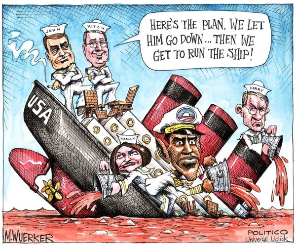 Matt Wuerker Down USA