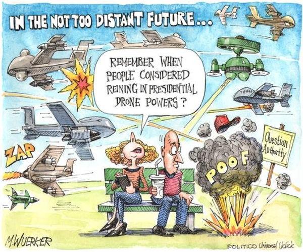 Matt Wuerker Drones