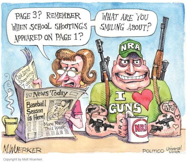 Matt Wuerker School Shootings