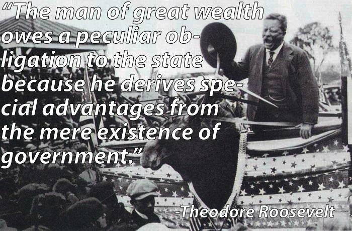 Inequality Quotes Theodore Roosevelt