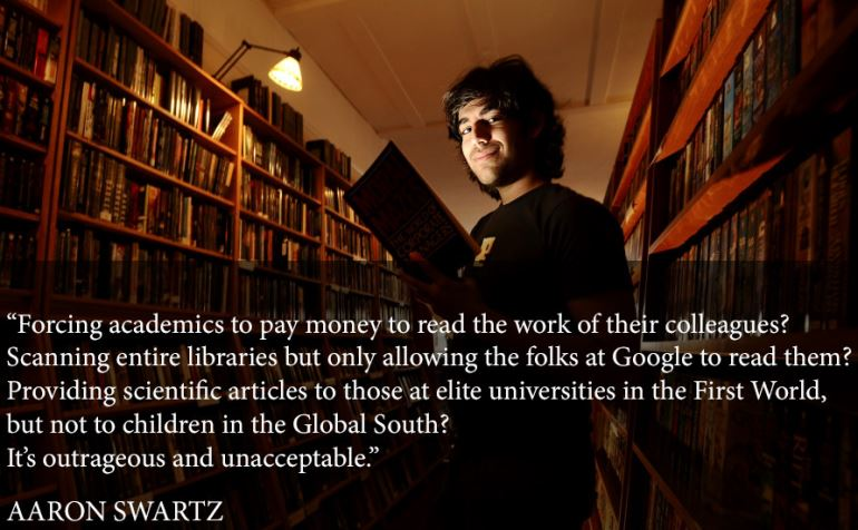 aaron swartz quote academic journals Aaron Swartz Slams Academic Journal Practices