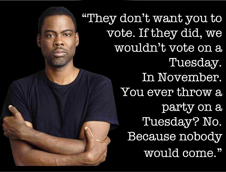 chris rock on voting quote Chris Rock On Election Day