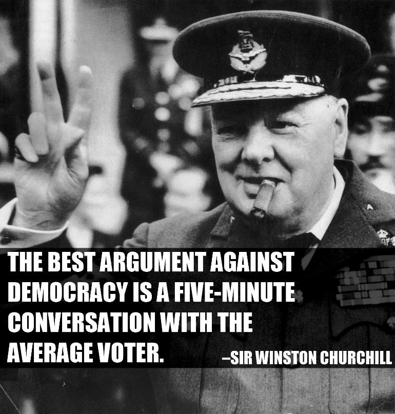 Churchill On Average Voter