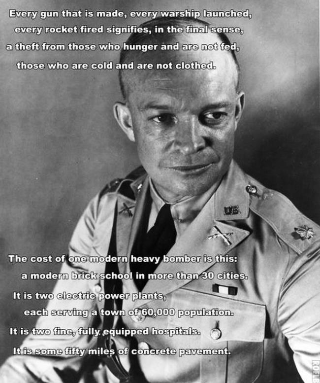 dwight eisenhower every rocket fired quote Eisenhower On Defense Spending