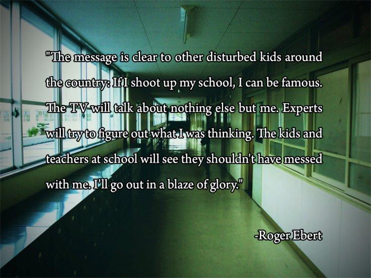 Roger Ebert School Violence