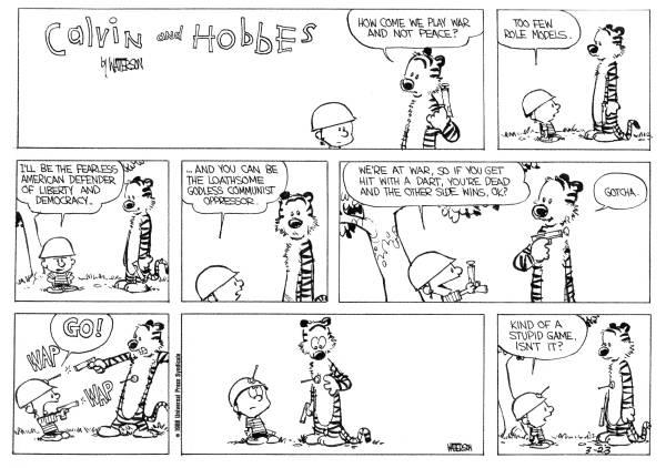 Calvin And Hobbes War