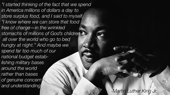 Martin Luther King On Hunger