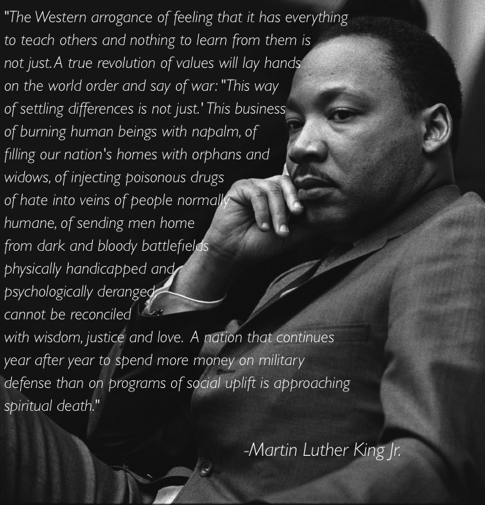 Martin Luther King On Western Arrogance