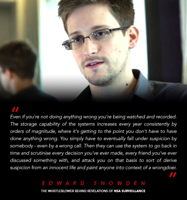 Edward Snowden Electronic Surveillance Quote