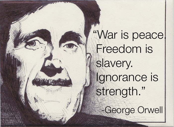 George Orwell War Is Peace Freedom Is Slavery Quote
