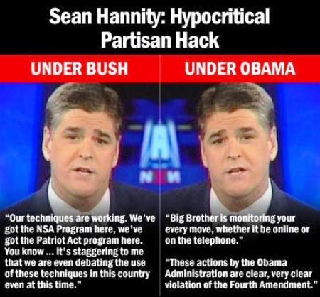 Sean Hannity Hypocritical Hack
