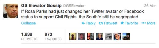 GS Elevator Gossip Rosa Parks