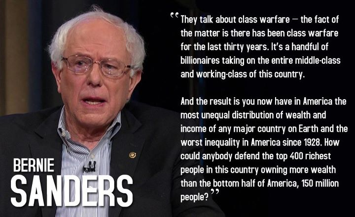 Bernie Sanders Class Warfare