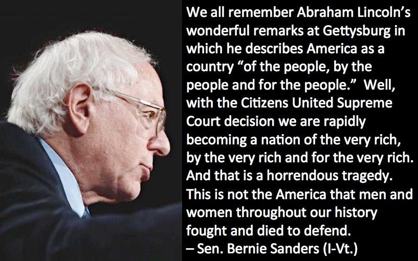 Bernie Sanders Gettysburg Address