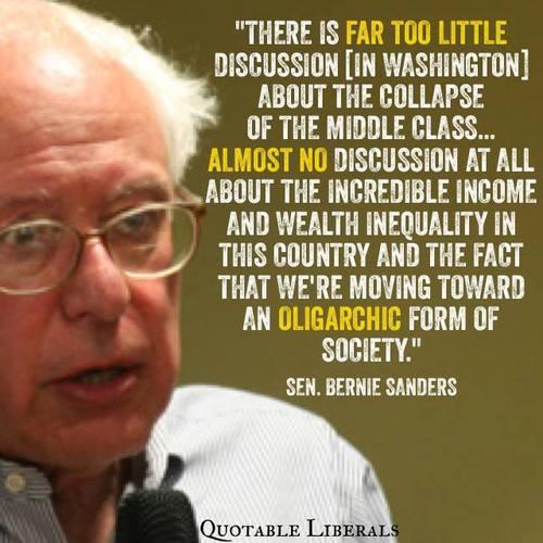 Bernie Sanders Middle Class