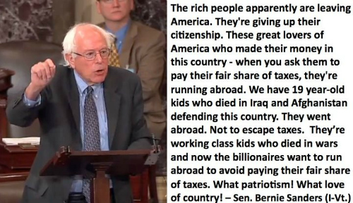 Bernie Sanders Patriotism