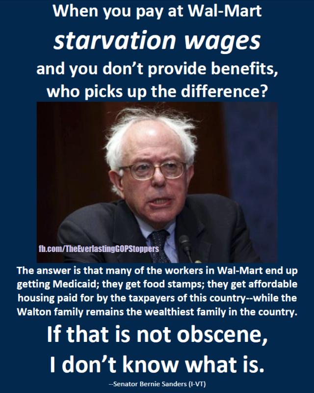 Bernie Sanders Walmart
