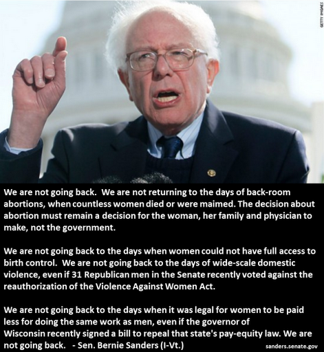 Bernie Sanders War On Women