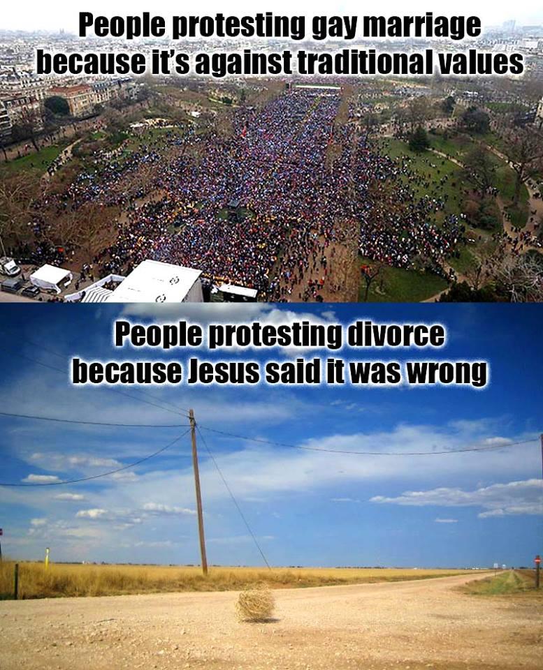 Gay Marriage Divorce Protests