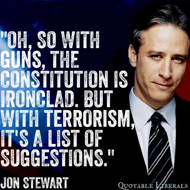 Guns Constitution Jon Stewart
