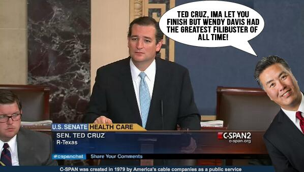 Ted Cruz Wendy Davis Filibuster