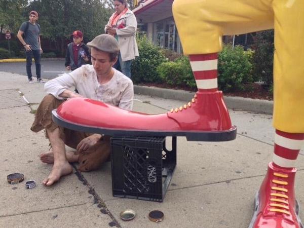 Banksy McDonalds Shoeless
