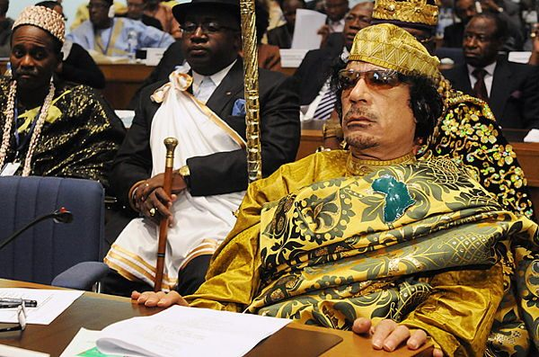 Dictator Fashions Gaddafi Gold