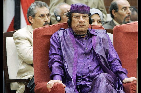 Dictator Fashions Gaddafi Purple