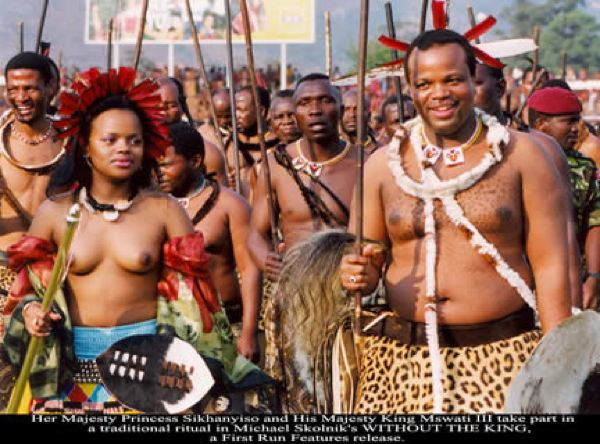 Dictator Fashions Mswati Topless
