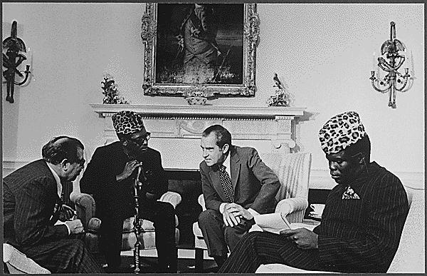 Dictator Fashions Mobutu Nixon