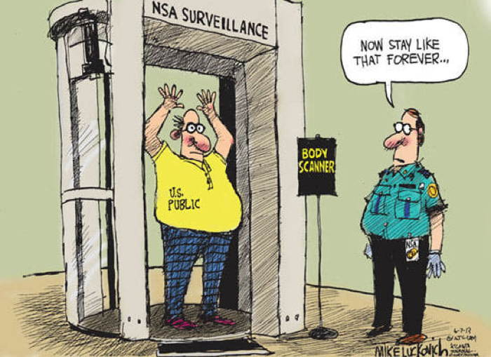 2013 Political Cartoons Body Scanner