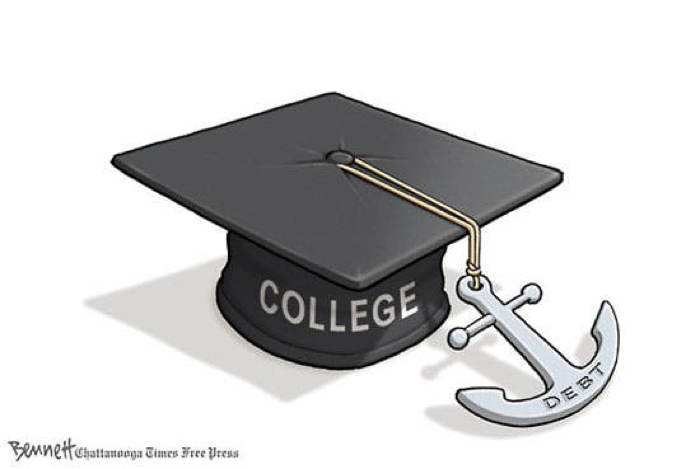2013 Political Cartoons College Debt