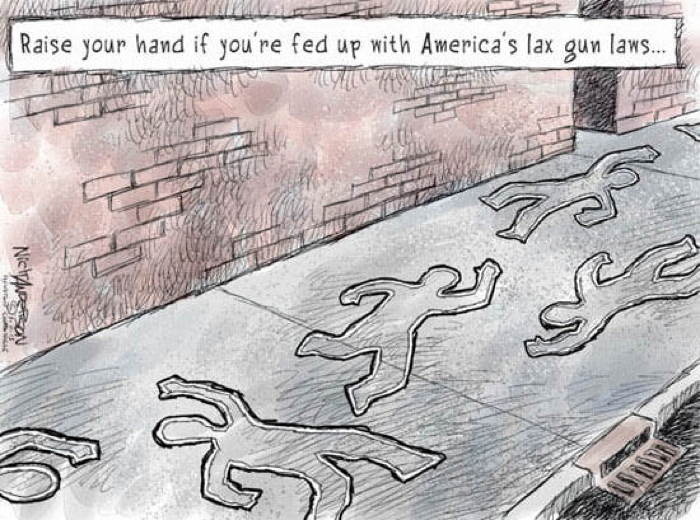 2013 Political Cartoons Gun Laws