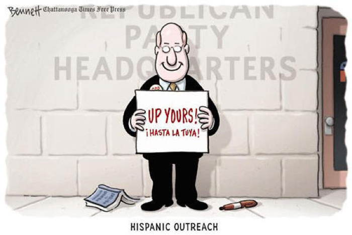 2013 Political Cartoons Hispanic Outreach