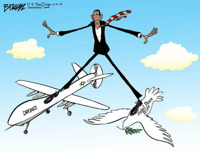 2013 Political Cartoons Obama Drones
