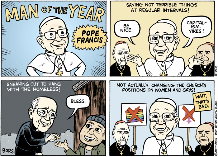 2013 Political Cartoons Pope Francis