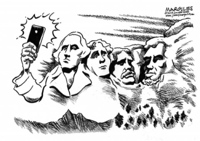2013 Political Cartoons Selfies