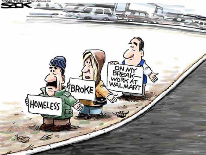 2013 Political Cartoons Walmart