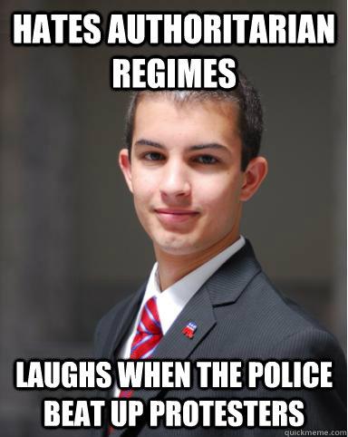 College Conservative Authoritarian