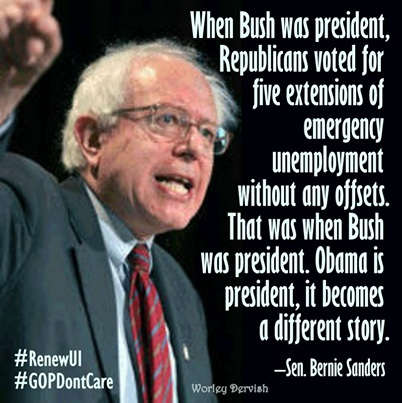 Bernie Sanders Bush Obama
