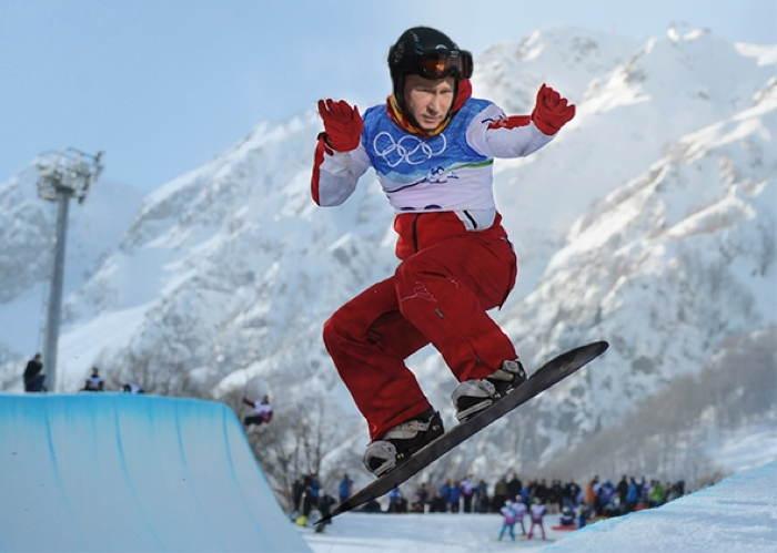 Putin Snowboarding