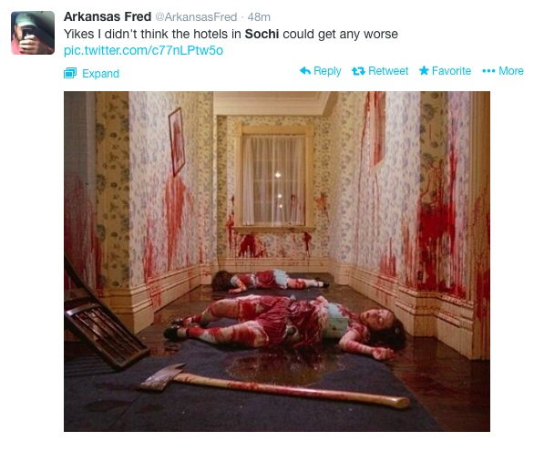 Sochi Tweets Blood