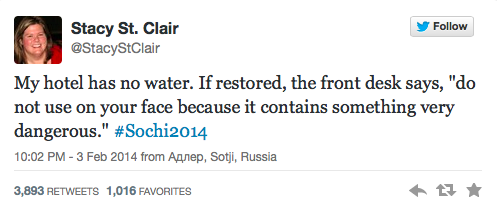 Sochi Tweets Dangerous